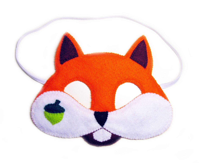 Squirrel felt mask for kids and adult - orange - handmade forest ...