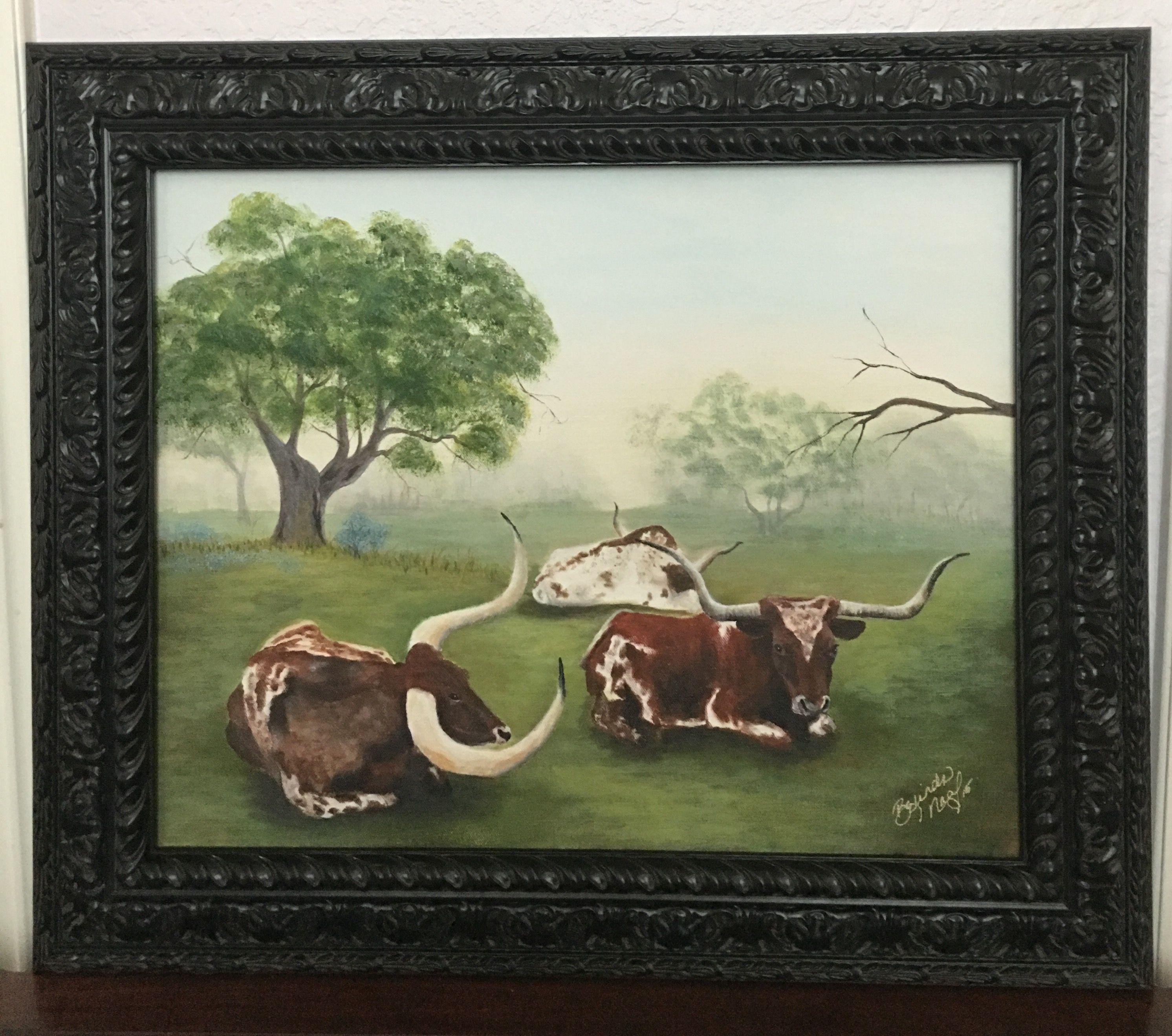 """Texas Longhorns"", Longhorn Painting"