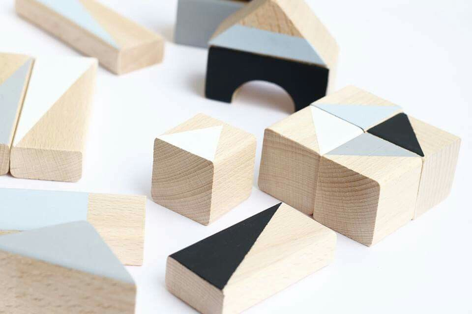 winter wooden blocks non toxic paint on unfinished wood shipping