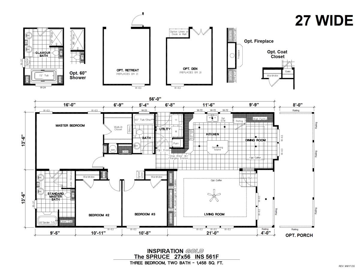 Inspiration Gold Ins 561f Spruce Factory Direct Homes Clayton Homes Floor Plans Inspiration