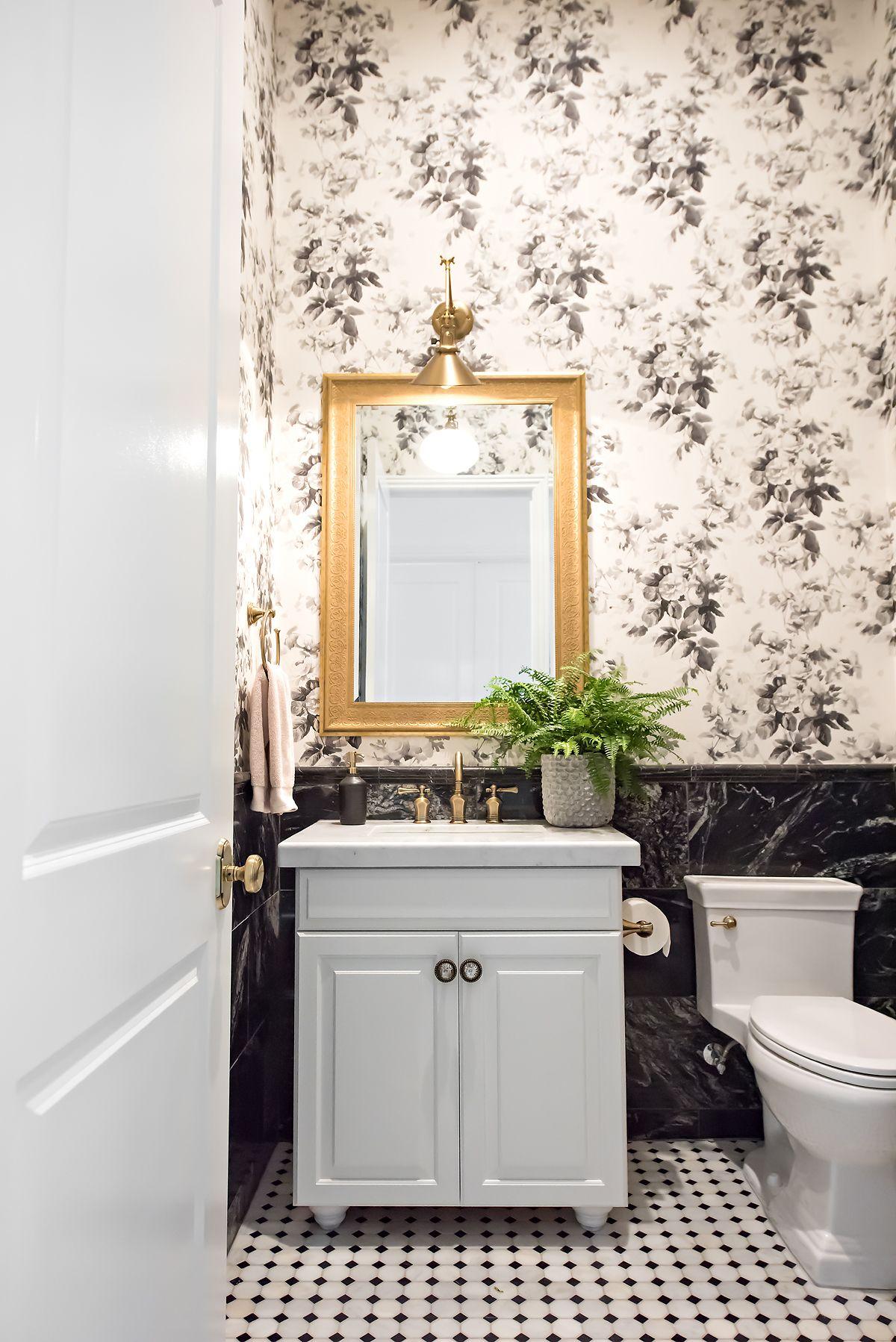 New Home Tour >> Powder Bathroom | W | 卫 | Pinterest | Powder room ...