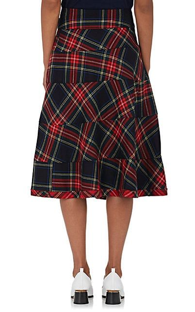 8a6f84248e9 tricot Comme des Garcons Plaid Wrap Wool Knee Skirt - Skirts - 505340533