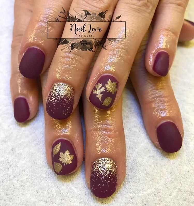 Sparkle Gold | Fall Leaves Nail Decal | Nail decals, Art nails and ...
