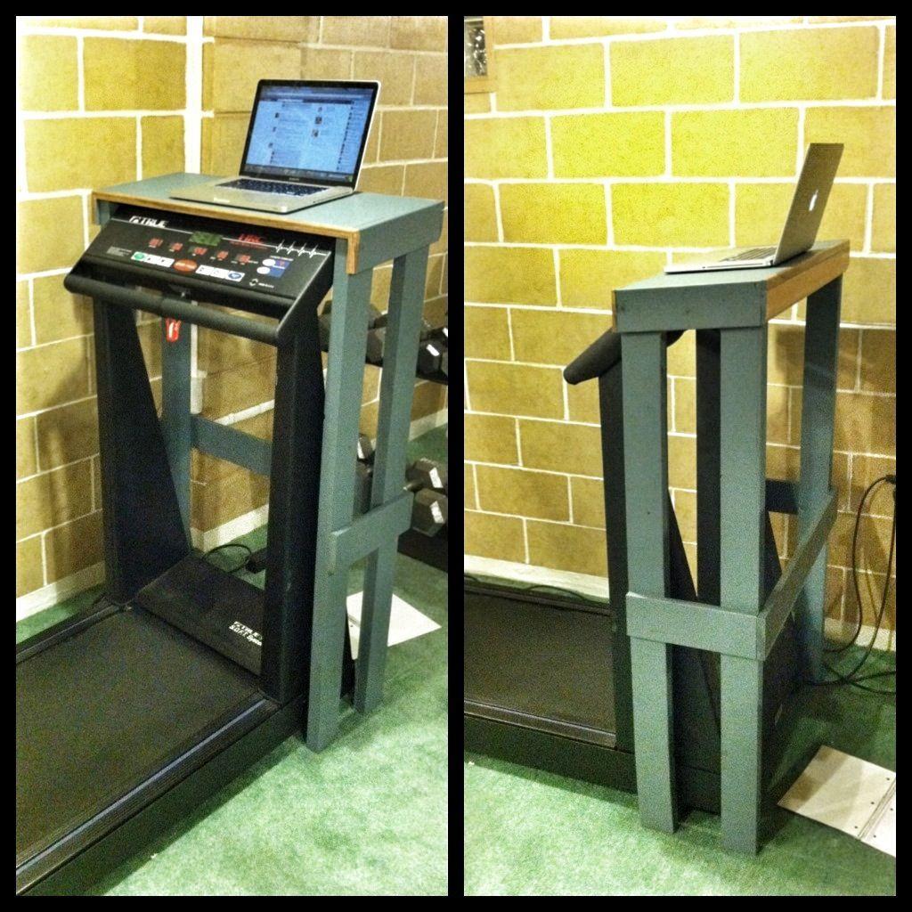 april foodie penpals reveal day fitness and fun treadmill desk diy laptop diy standing desk. Black Bedroom Furniture Sets. Home Design Ideas