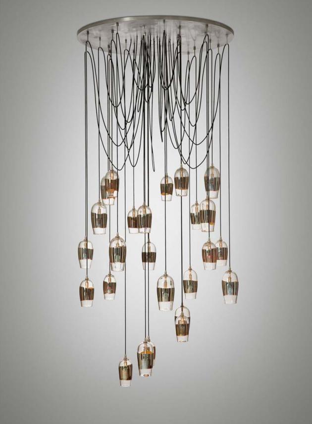 Mirrored Pendant Chandelier By Alison Berger Pendant Light