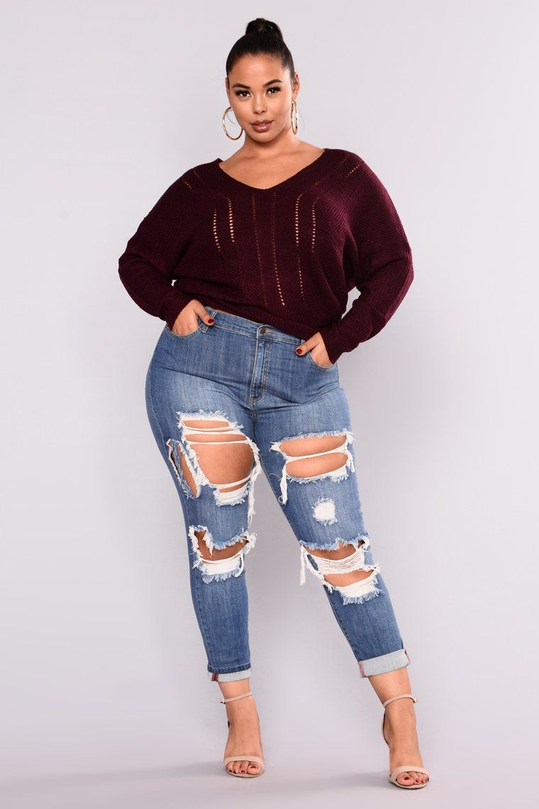 f0509f2b7ee Cathy Mid Rise Distressed Jeans - Medium Blue in 2019 | Tabria ...