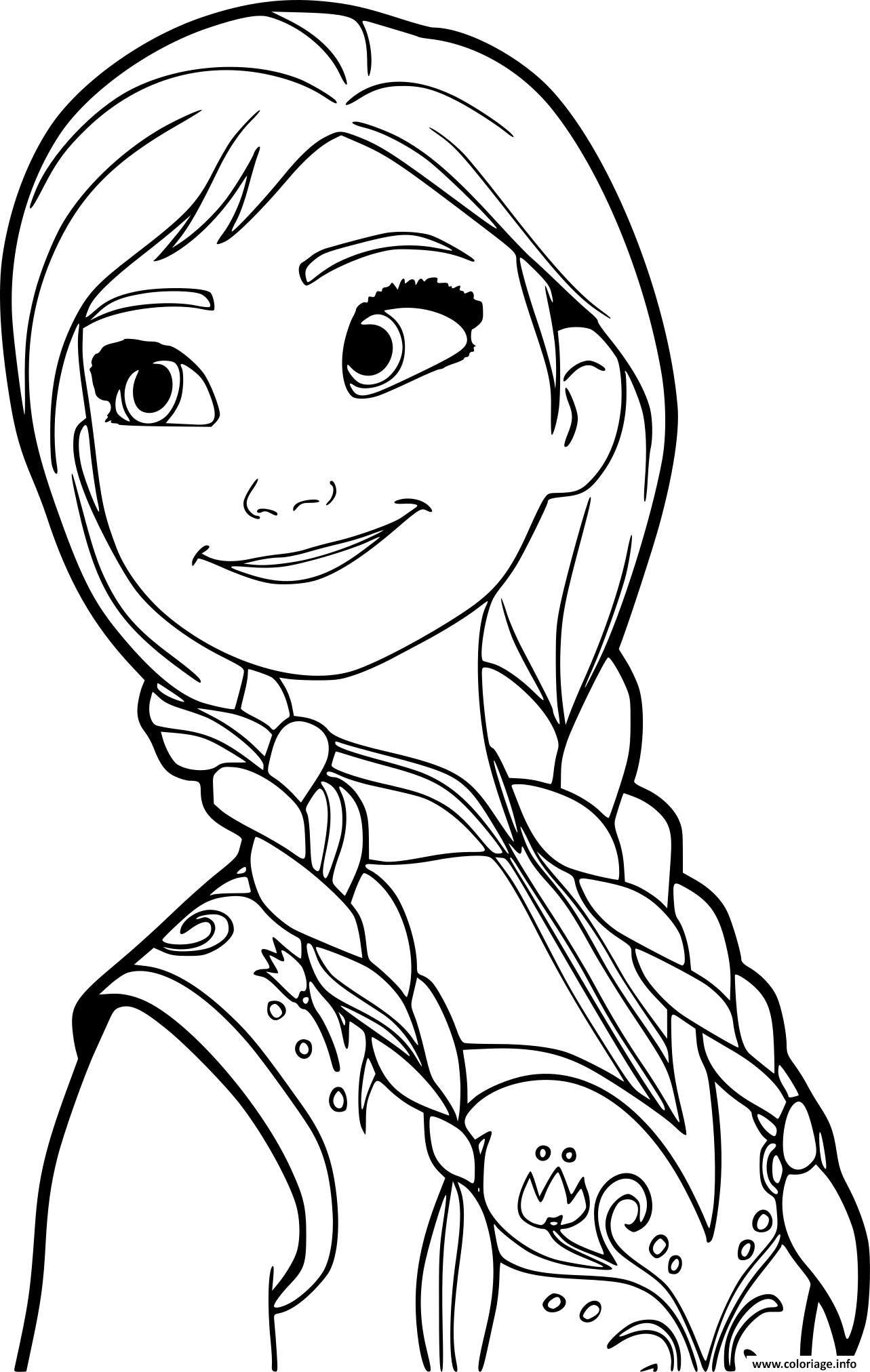 Coloriage Princesse Anna De La Reine Des Neiges 2 Dessin A