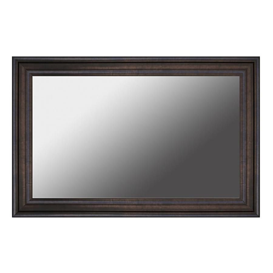 Gardner Glass Products 30 In W X 42 In H Ebony Bronze Mdf Transitional Mirror Frame Kit Hardware Included Lowes Com Transitional Mirrors Mirror Frame Kits Decorating Mirror Frames