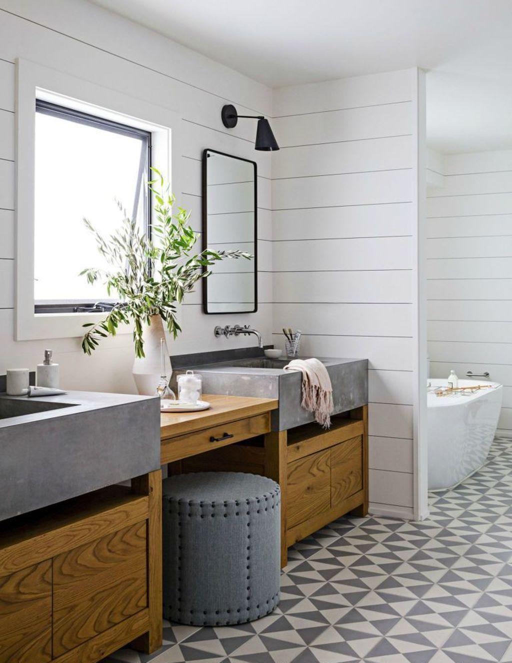 77 Fabulous Modern Farmhouse Bathroom Tile Ideas 42 Modern Bathroom Remodel Rustic Modern Bathroom Modern Farmhouse Bathroom