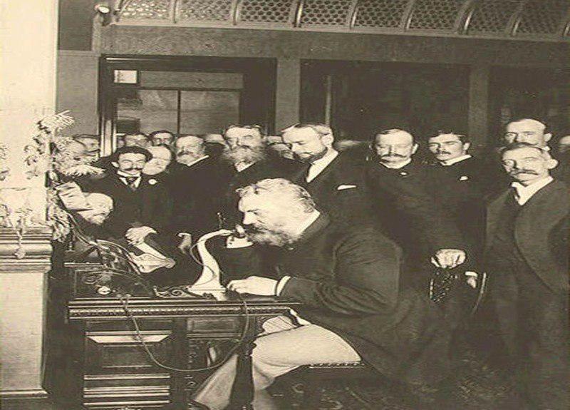 أول ظهور للهاتف 1875 Tarih Galeri