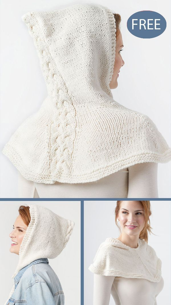 Free Knitting Pattern for Hooded Cabled Cowl - Neckwarmer ...