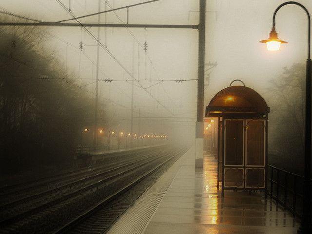 After Rains Fog Rolls Into Madison >> The Train Station Amtrak Stations Monuments Train Platform
