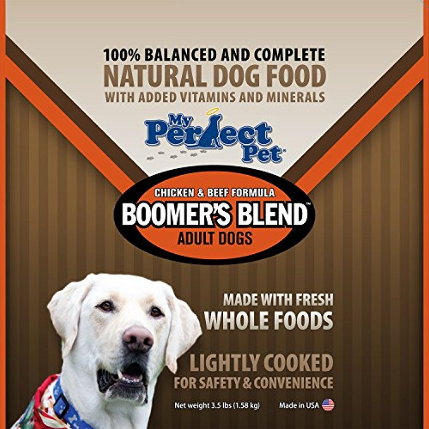 My perfect pet food boomers blend chicken beef formula