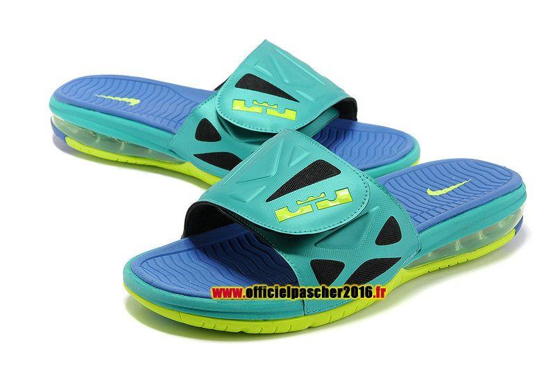 2016 Summer Men Nike Air Max Flip Flops Slipper Navy Blue Orange Blue