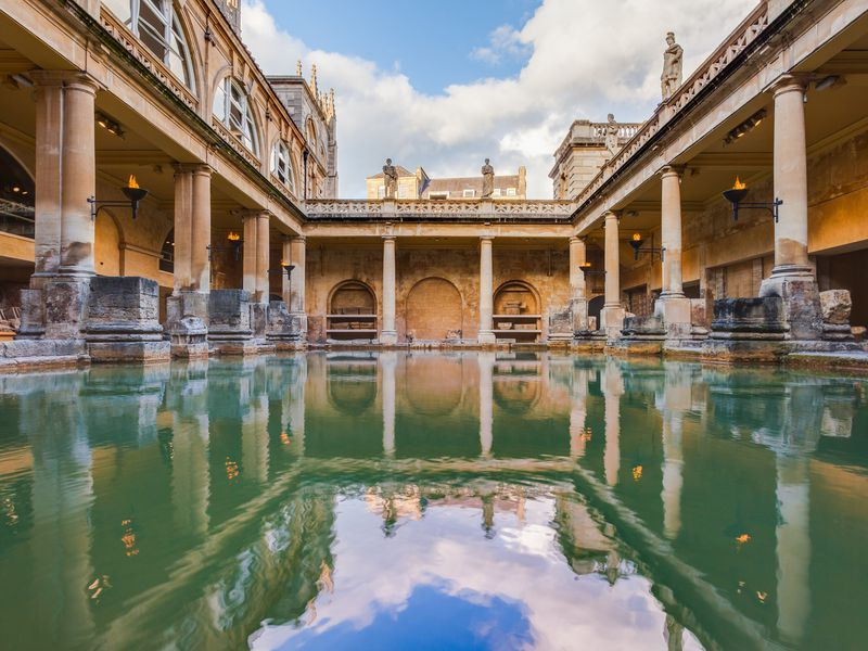 Oldest Mosaic At Roman Baths Found During Excavations Roman Bath