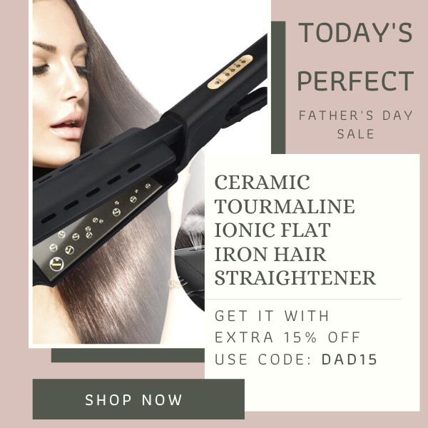Ceramic Tourmaline Ionic Flat Iron Hair Straightener In 2020 Hair Straighteners Flat Irons Hair Straightening Iron Flat Iron Hair Styles