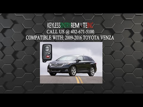 How To Change A 2009 2016 Toyota Venza Key Fob Remote Battery