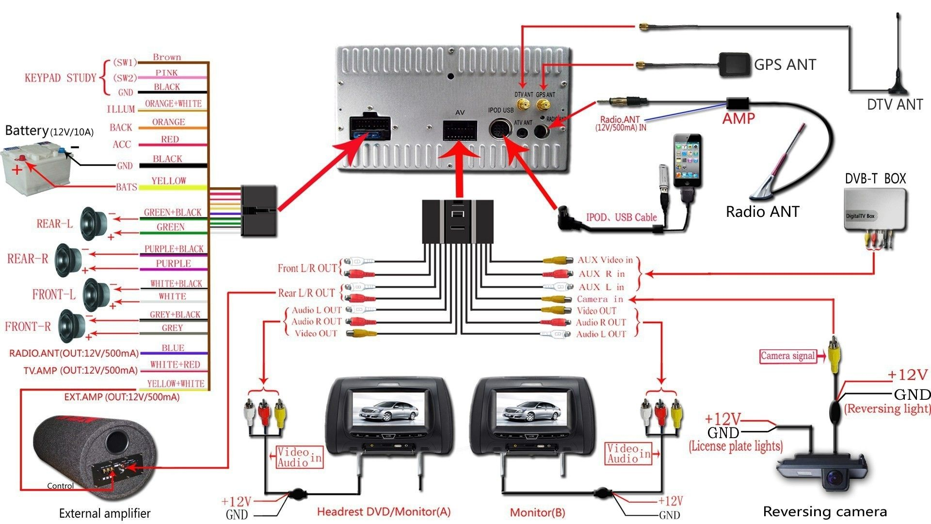 New Wiring Diagram For Dual Car Stereo Diagram Diagramtemplate Diagramsample Car Audio Car Stereo Systems Car Stereo