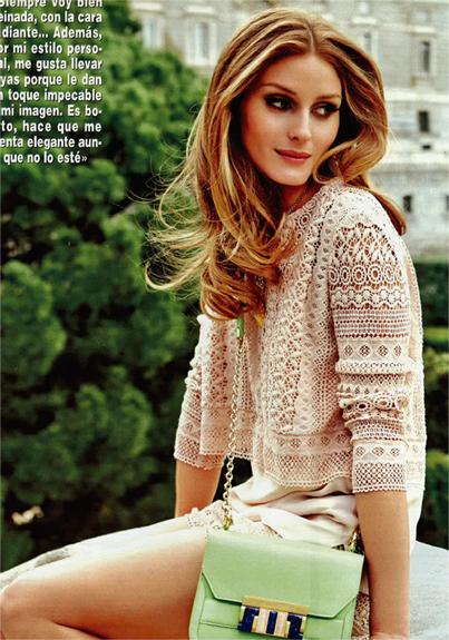 Olivia Palermo   Hola Magazine   Maje shorts and top