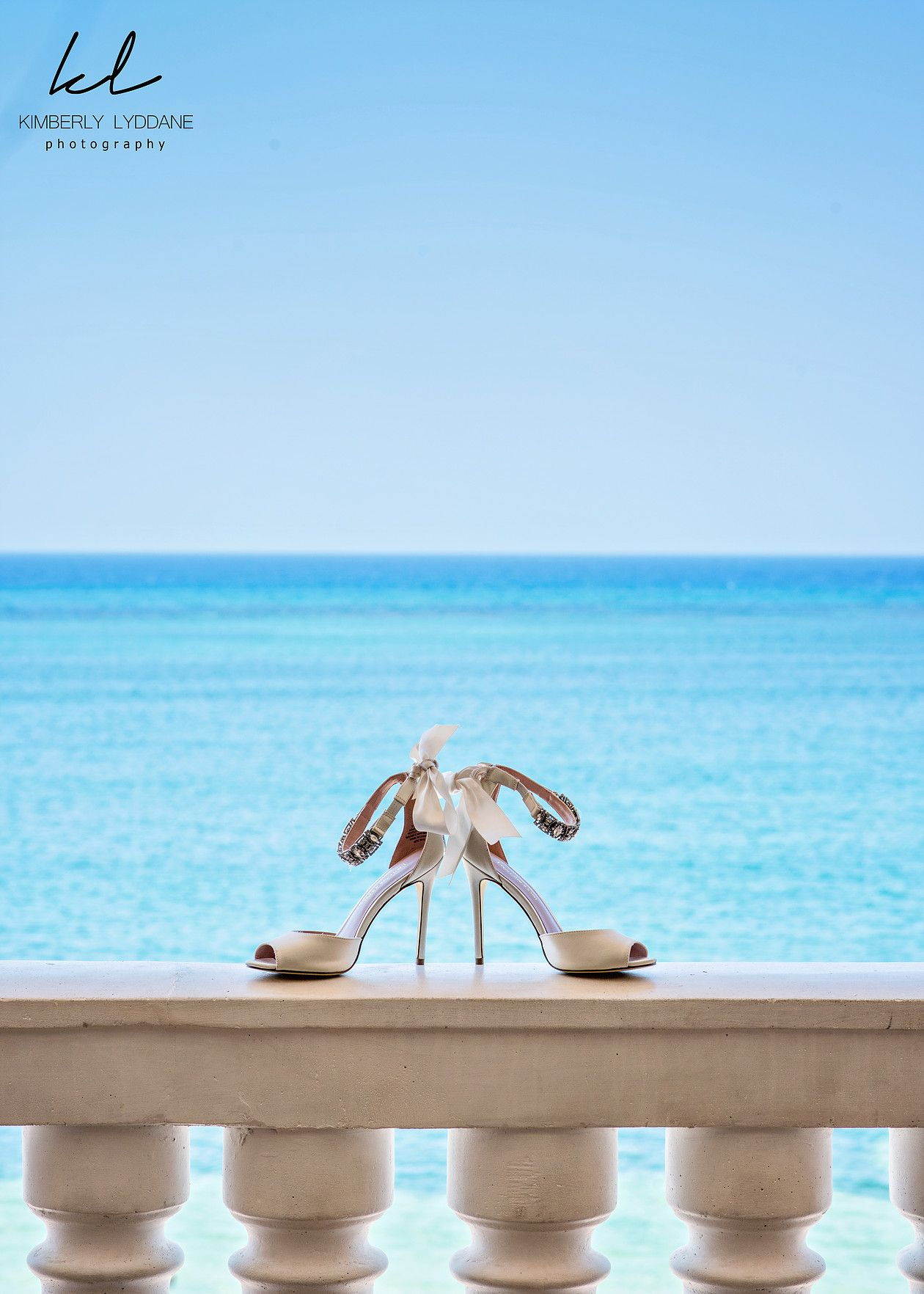 Bridal shoes. Destination Jamaica beach wedding. Iberostar Rose Hall ...