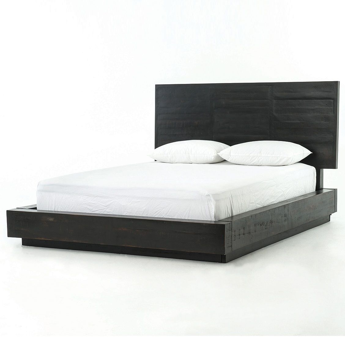 modern black wood queen size platform bed frame - Wood Platform Bed Frame Queen
