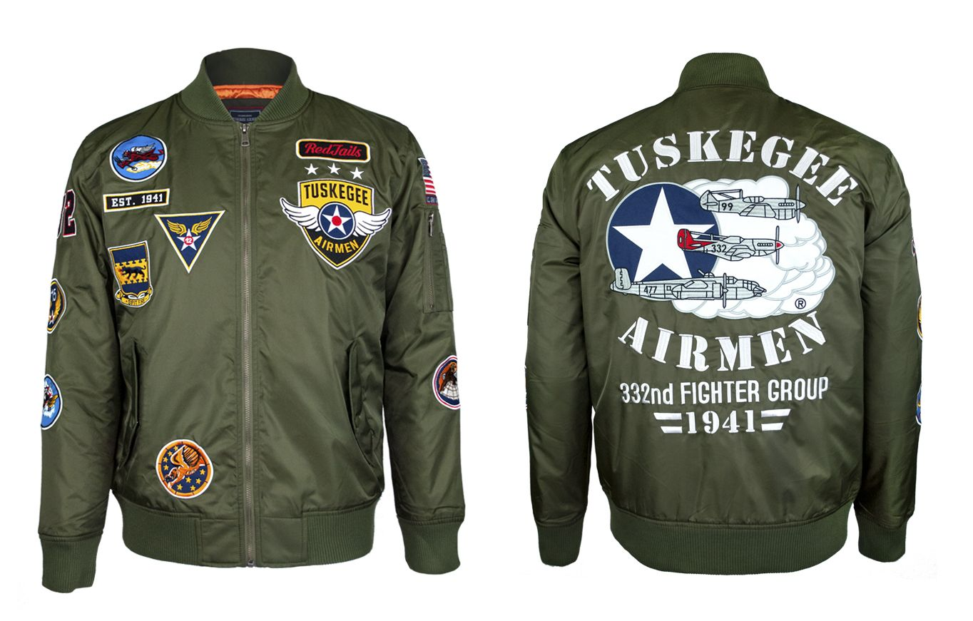 Tuskegee Airmen Bomber Jacket Bomber Jacket Jackets Tuskegee [ 871 x 1364 Pixel ]