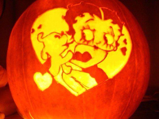 Betty Boop Pumpkin Carvings Halloween Pumpkins Gourds Carved