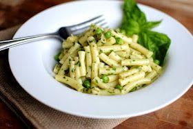 Lemon Basil Pesto Pasta  Lou-Lou ADORES pesto on pasta! LL