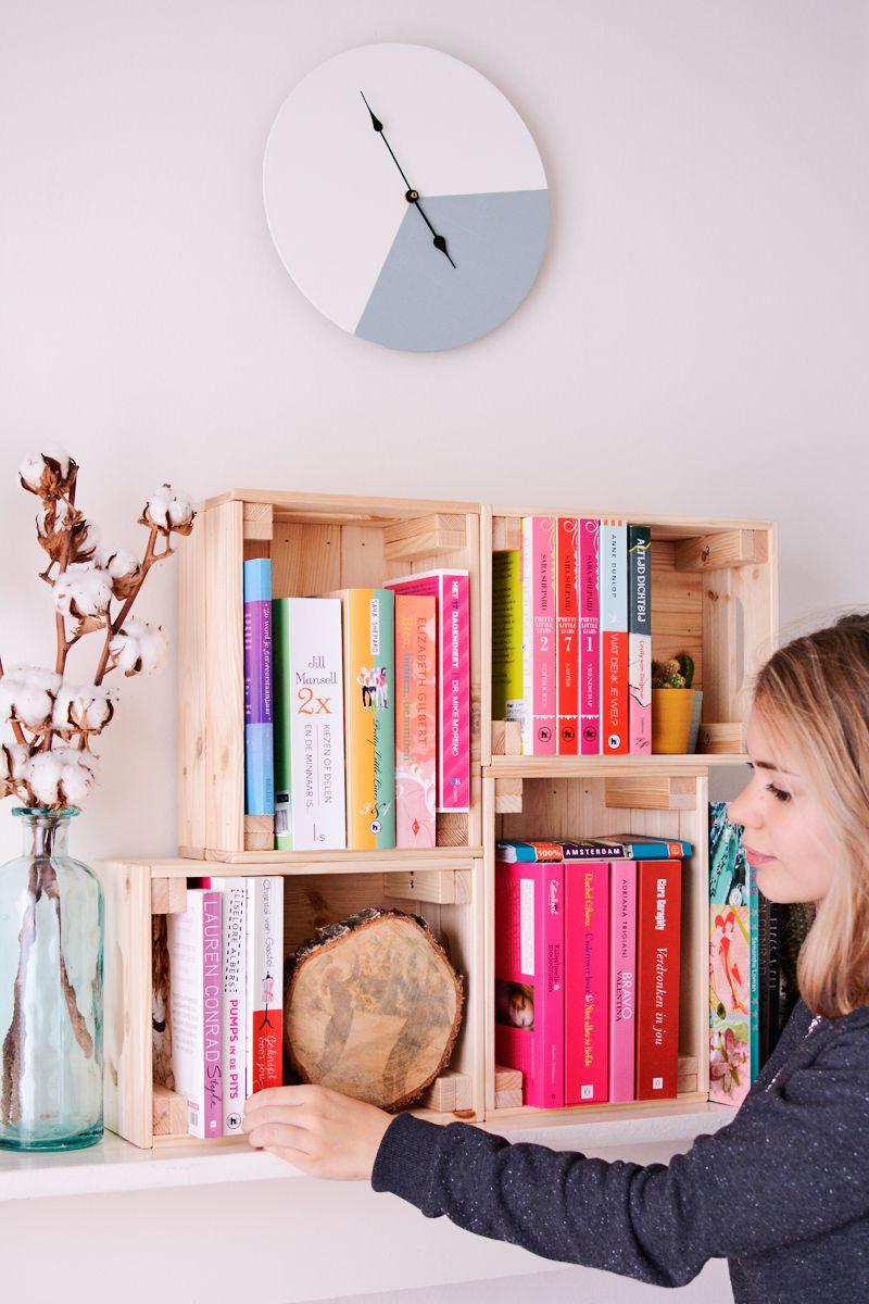 Boekenkast knagglig kistjes | DIY | Pinterest | Kinderzimmer ...