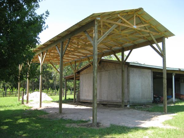 Basic protection lodge protection ideas lodge for Pole barn for rv storage