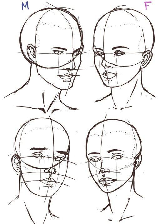 Pin by Jay Win on DrawingRefs | Pinterest | Drawings, Face drawings ...