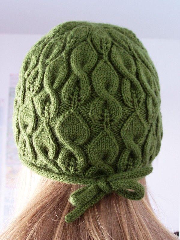 Leaves hat: knitting pattern, tutorial | Gorras | Pinterest | Lana ...