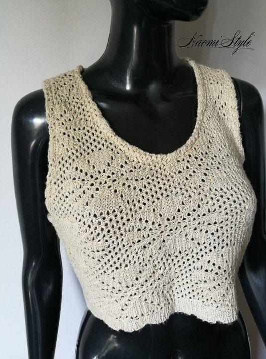 6cbfaf3fbb76b4 Modny koronkowy Crop Top - vinted.pl | Fashion boutique Naomi Style ...