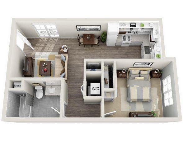 Baylor - The Flats at Mixson Floor plan Pinterest Apartments - plan maison 3d gratuit