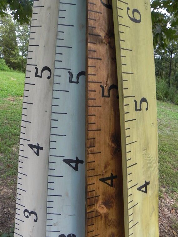 Growth Chart Ruler Wooden Oversized Vintage Feel Distressed Charming