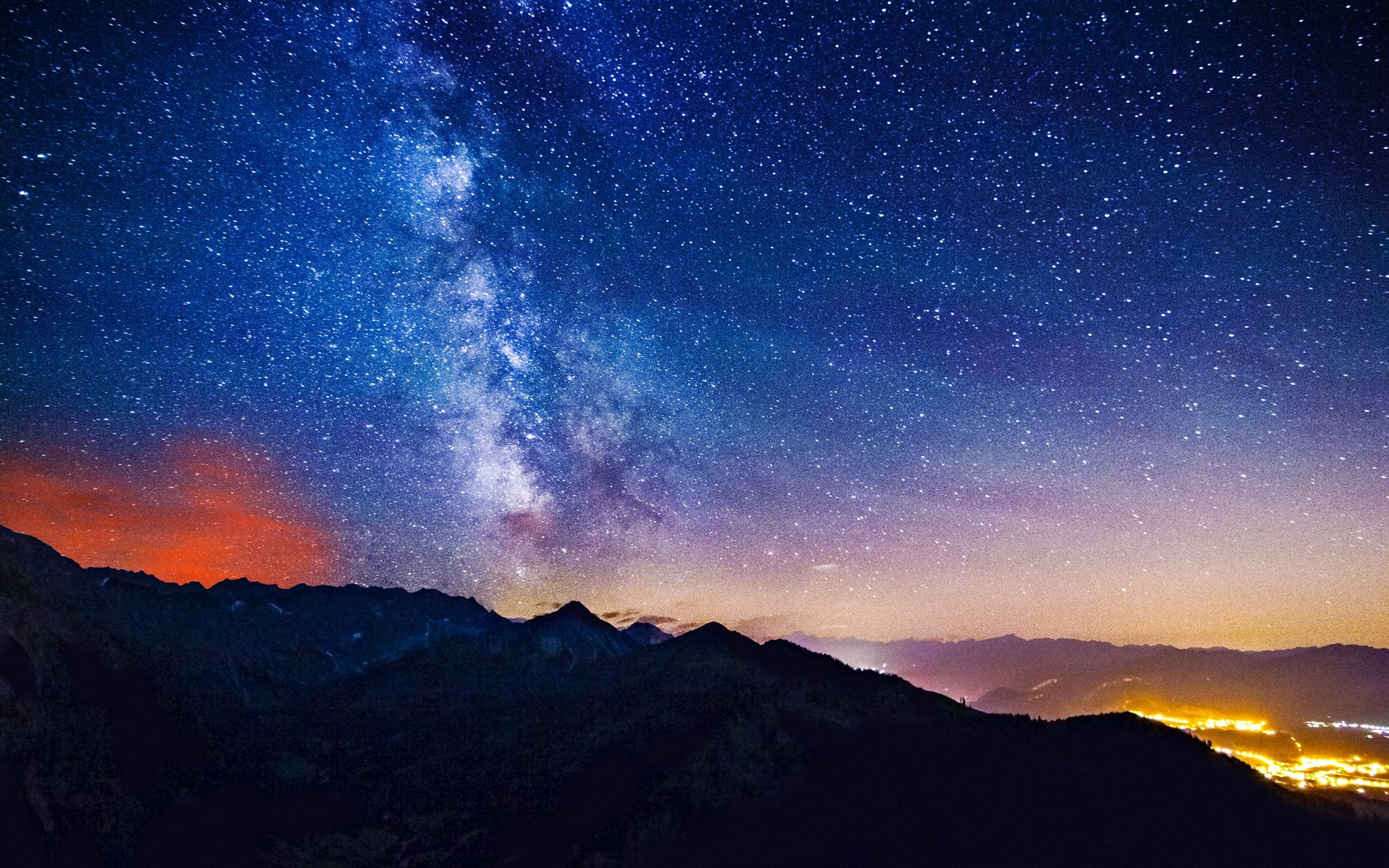 Milky Way Stars Over Mountains Fondos De Escritorio Night Sky Wallpaper Star Wallpaper Beautiful Wallpapers