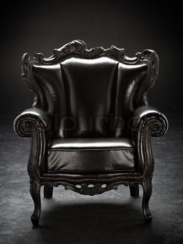 Old Black Chair Upholstered In Leather Isolated On A Black Background Black Chair Chair Photography Boho Chair