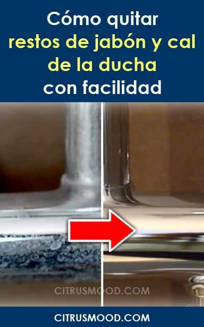 C mo quitar restos de jab n y cal de la ducha con facilidad limpieza hogar limpieza - Como quitar la cal de la mampara ...