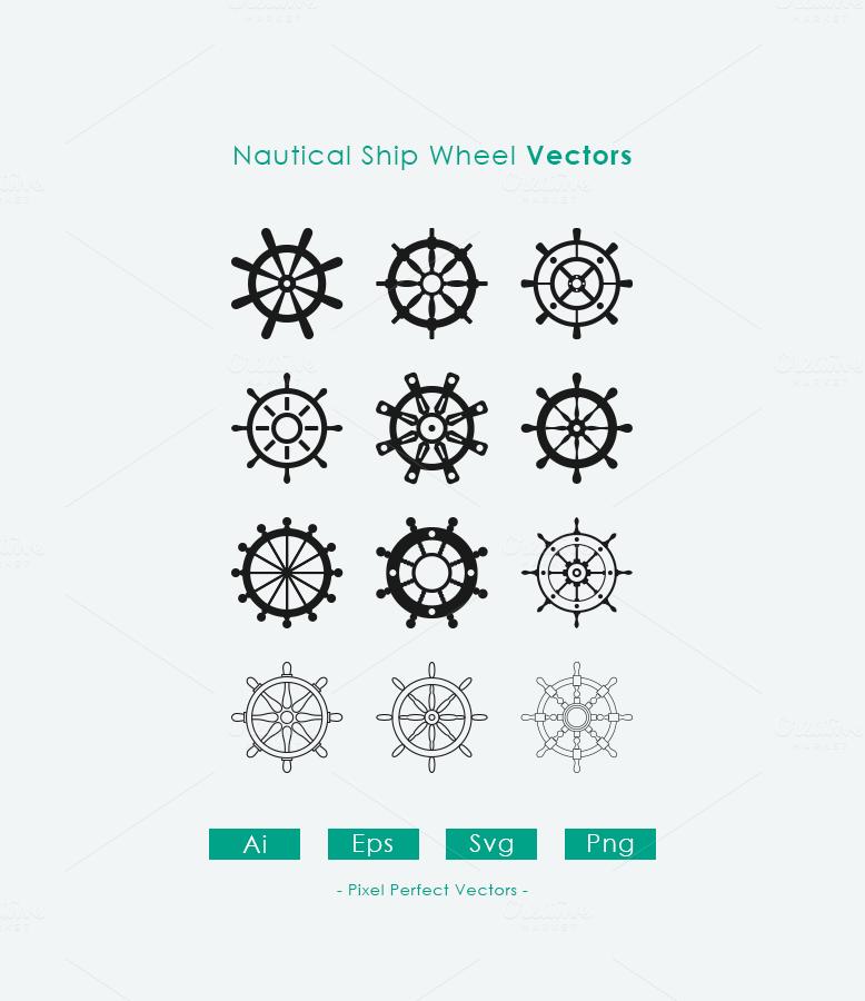 12 Nautical Ship Wheel Vectors Ship Wheel Tattoo Helm Tattoo Wheel Tattoo