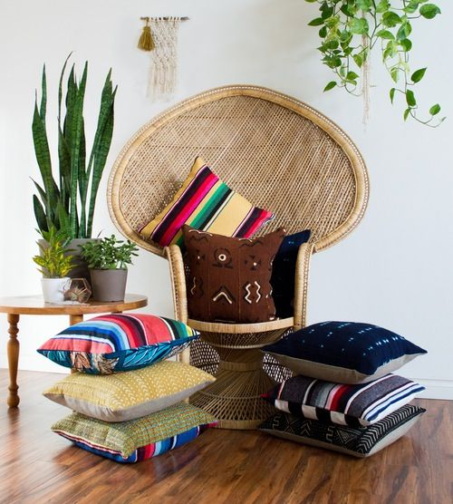 Image of Indigo Mudcloth Pillow