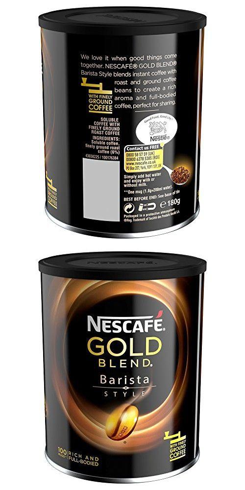 Nescafe Gold Blend Barista Style 180g Com Imagens Caneca De