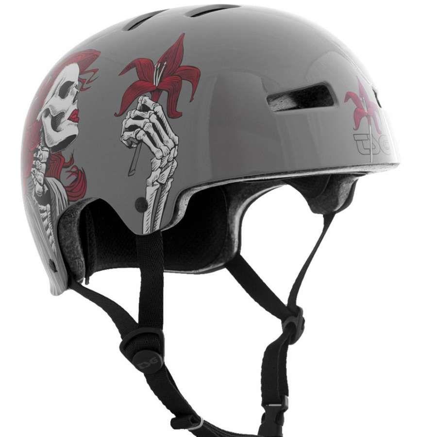 TSG 2013 Evolution Red Lily Helmet | Protection | Skates.co.uk