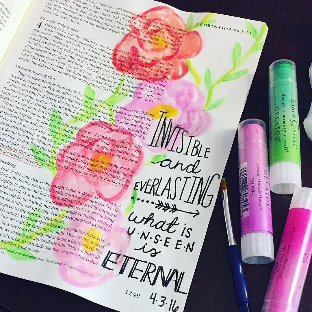 First time bible journaling using the gelato like water color! It ...