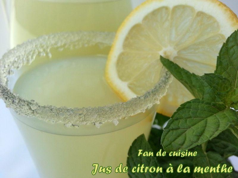 Jus de citron à la menthe
