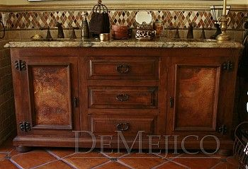Fantastic Spanish Style Bathroom Vanity