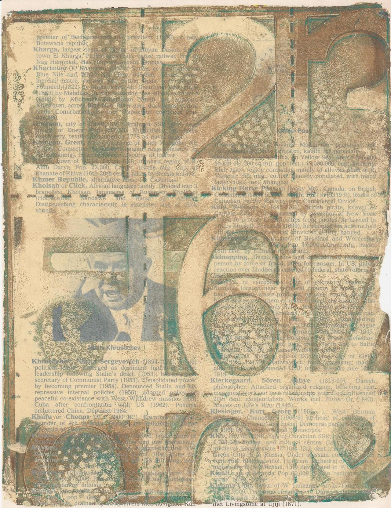 gelli print old book page adirondack ink ranger tcw stencil - Prints On Old Book Pages