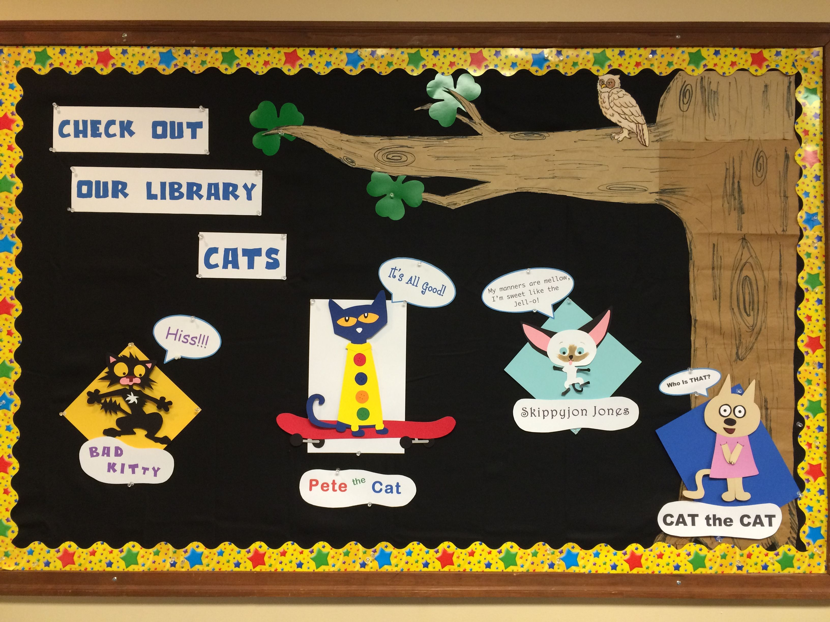 Library cats bad cats pete the cat kitty