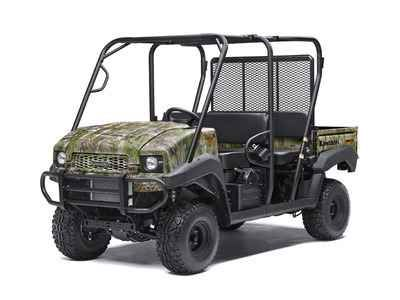 """New 2017 Kawasaki Mule 4010 Trans 4X4 Camo ATVs For Sale in Iowa. 2017 Kawasaki Mule 4010 Trans 4X4 Camo, THE KAWASAKI DIFFERENCETHE MULEâ""""¢ 4010 TRANS4X4® CAMO SIDE X SIDE WITH REALTREE XTRA® GREEN CAMO PATTERN EXUDES THE OUTDOOR SPORTSMAN LIFESTYLE. THIS VERSATILE MID-SIZE FOUR-PASSENGER WORKHORSE IS WELL EQUIPPED TO PUT IN A HARD DAY OF WORK AND SUPPORT HUNTING AND FISHING ADVENTURES.617cc fuel-injected, V-twin engine produces reliable performanceConvertible design lets you easily…"""