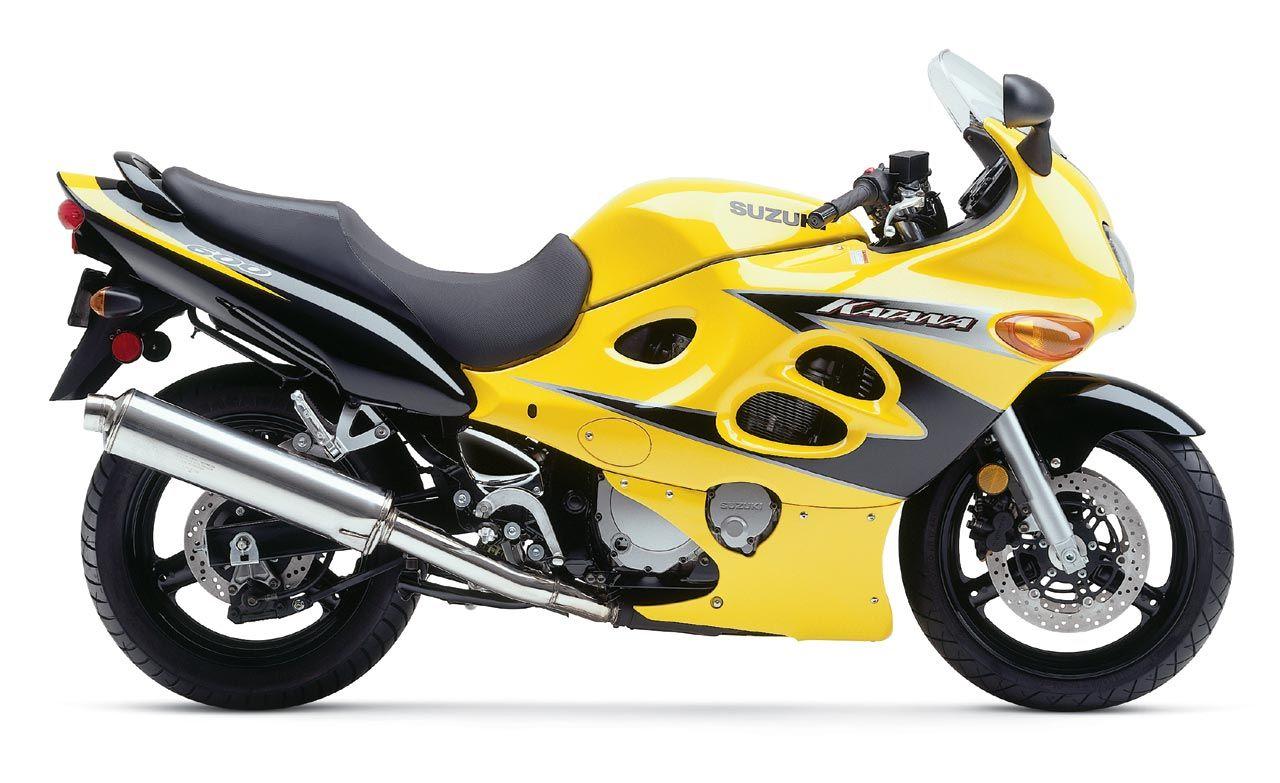 Yellow Suzuki GSX 600 F Katana