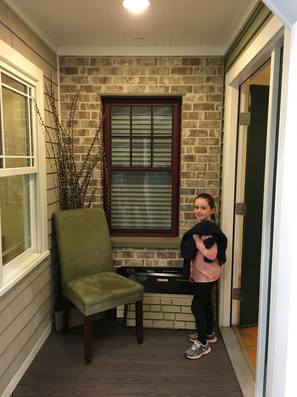 Savannah Wicker Siding With Brick And Maroon Door Exterior Doors Wicker House